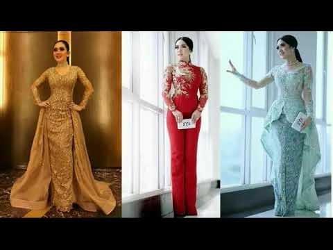 Design Model Gamis Untuk Pernikahan S1du Videos Matching Model Baju Kebaya Modern Ala Syahrini