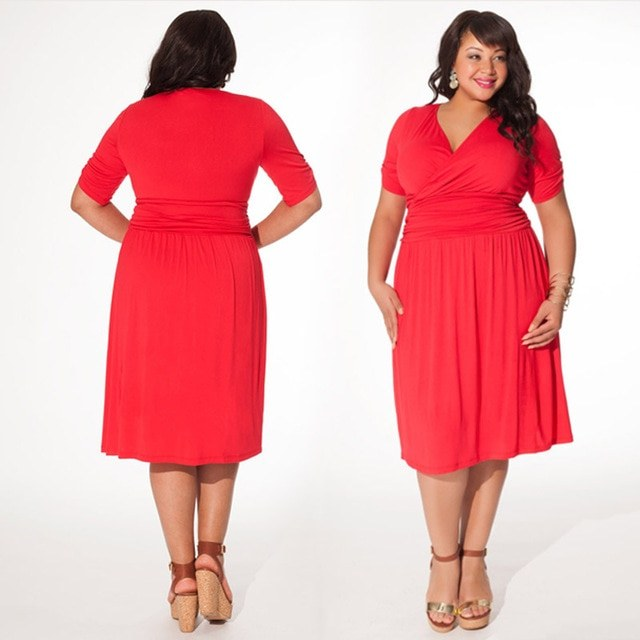Design Seragam Gamis Untuk Pernikahan T8dj Us $19 81 Off Mimpi Pohon Anggur Wanita Plus Ukuran Kasual Lurus Gaun Merah Lengan Pendek Jauh V Wrap Perempuan Pernikahan & De Festa Gaun Pesta