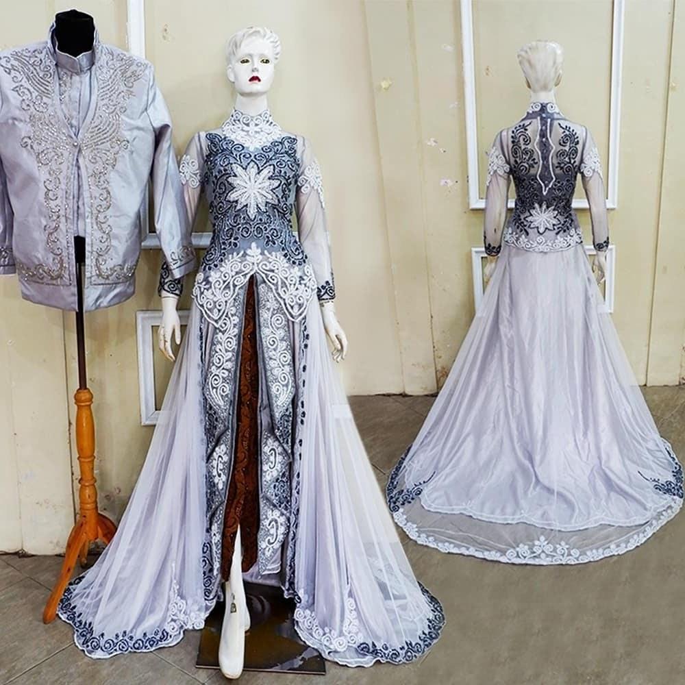 Ide Gamis Brokat Pernikahan Budm 30 Model Gamis Pengantin Brokat Fashion Modern Dan