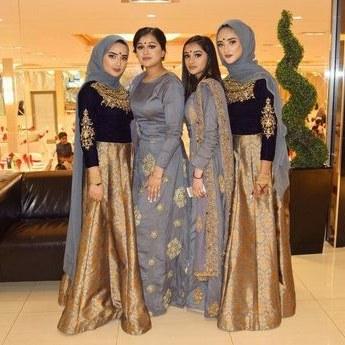 Ide Gamis Pesta Pernikahan Dwdk Model Baju Gamis Pesta Pernikahan Ideas and