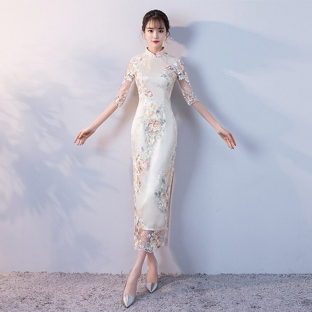 Ide Gamis Pesta Pernikahan Xtd6 Us $43 68 Off Pesta Pernikahan Cheongsam oriental Gaun Malam Tradisional Cina Wanita Elegan Qipao Seksi Jubah Panjang Retro Vestido S M L Xl Xxl