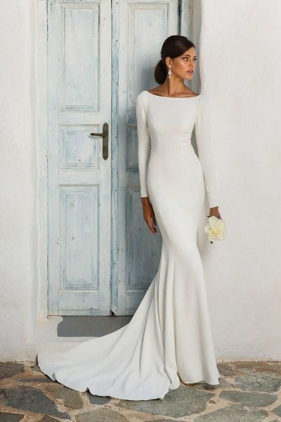 Ide Gamis Untuk Pernikahan 3id6 20 Wedding Dress Yang Simple Nan Elegan Ala Putri Marino