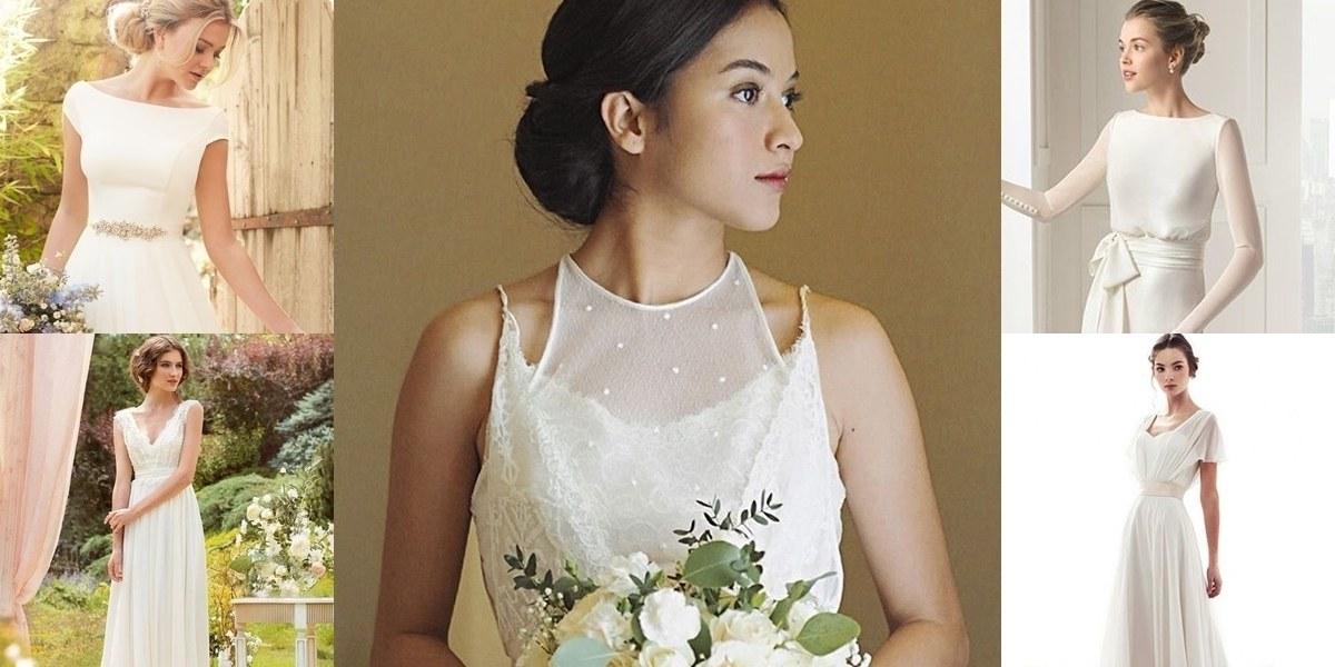 Ide Gamis Untuk Pernikahan Tldn 20 Wedding Dress Yang Simple Nan Elegan Ala Putri Marino