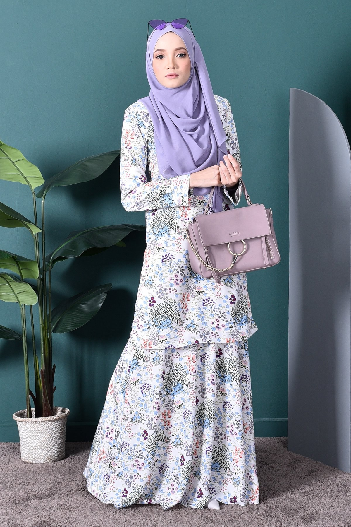 Ide Gaun Bridesmaid Hijab 0gdr Baju Kurung Agnes – Cotton White – Muslimahclothing