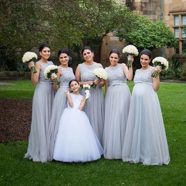 Ide Long Dress Bridesmaid Hijab Fmdf Maternity Long Bridesmaids Dresses Light Sky Blue Tulle Pregnant Women Wedding Party Gowns Custom Made for Pregnancy Girls Chiffon Bridesmaid Dress