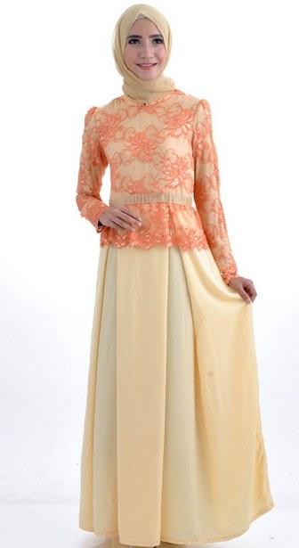 Ide Long Dress Bridesmaid Hijab Nkde Dress Brokat Pesta Modern Hijab Busanamuslim Hijabi
