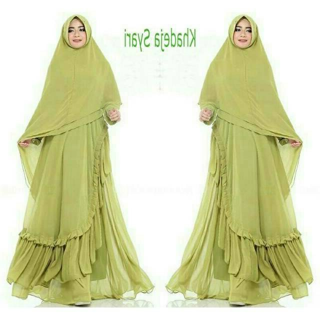 Ide Model Baju Gamis Untuk Pernikahan Irdz Gamis Ceruti Layer Seragaman Modern Khadejah Syari Jual
