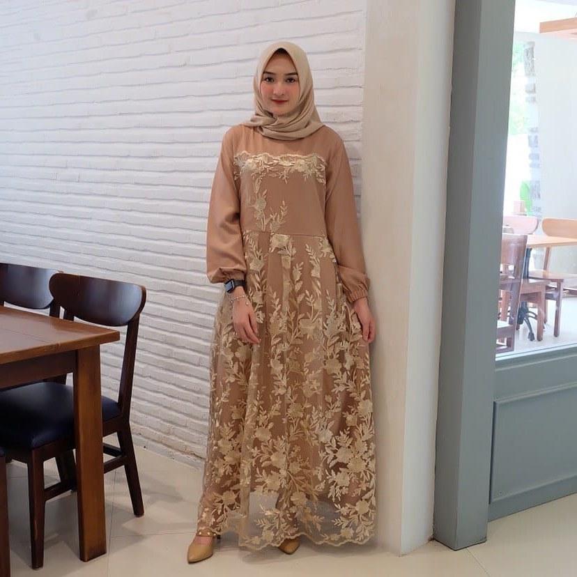 Ide Model Baju Gamis Untuk Pernikahan Jxdu ✠65 Model Kebaya Muslim ➧ Brokat Modern Hijab Terbaik