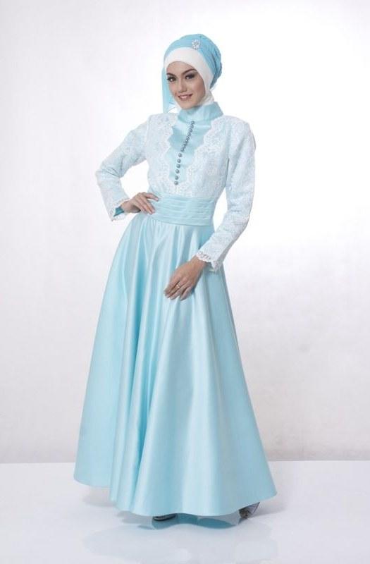 Ide Model Baju Gamis Untuk Pernikahan S5d8 Model Busana Gaun Pesta Muslim Remaja