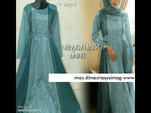 Ide Model Gamis Untuk Pesta Pernikahan 0gdr Model Baju Gamis Pesta Pernikahan Brukat Resnaya