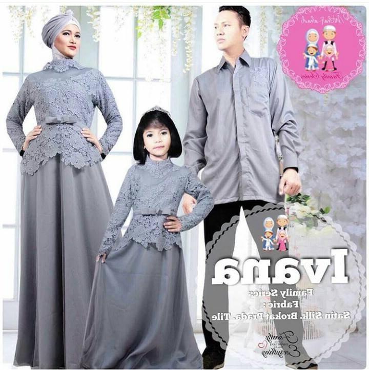 Ide Model Gamis Untuk Pesta Pernikahan Kvdd top Baru 40 Baju Muslim Pesta Seragam Keluarga