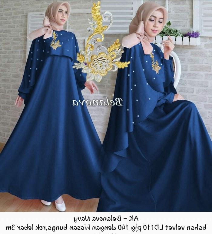 Ide Model Gamis Untuk Pesta Pernikahan Tqd3 Gamis Cape Dress Syari Baju Muslim Seragam Pesta Pernikahan Wedding Xl