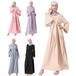 Inspirasi Baju Bridesmaid Hijab E9dx Fashion Muslim Abaya Full Dresses Hijab Kimono Long Robe Gowns Casual Loose Vestidos Middle East Ramadan islamic Bandage Dress
