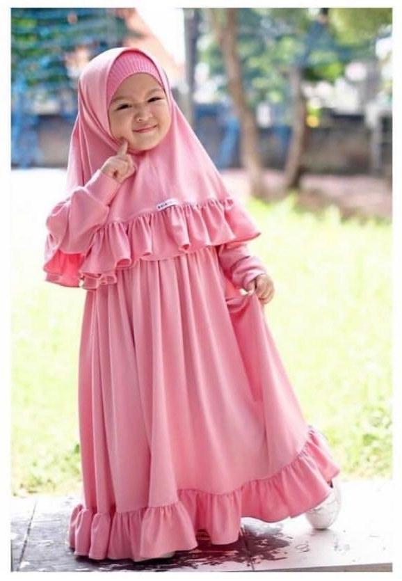Inspirasi Baju Bridesmaid Hijab O2d5 Kireina Dress Hijab Set Kids & Mother Women S Fashion