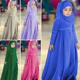 Inspirasi Bridesmaid Indonesia Hijab Jxdu 2019 Muslim Kids Dresses Flowers Girls Children Dubai Arabic Malaysia Indonesia Hijab Dress Kaftan Bangladesh Turkey Vestidos Uae