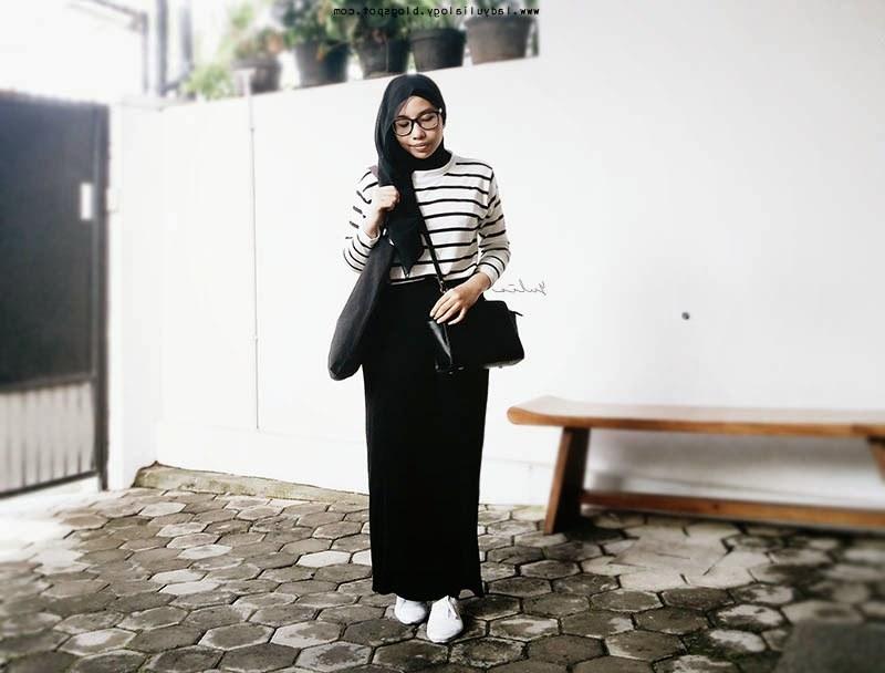 Inspirasi Bridesmaid Indonesia Hijab S1du Black Hijab Outfit