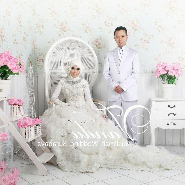 Inspirasi Bridesmaid Indonesia Hijab Thdr Vanda Mua Moslem Wedding Dress T Hijab Bride