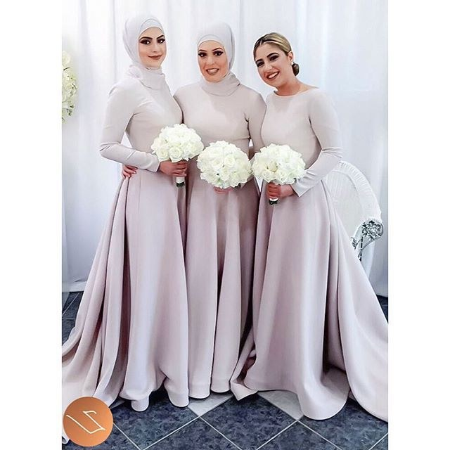 Inspirasi Desain Baju Bridesmaid Hijab S1du Simple Hijab Styling On Eman S Elegant Bridesmaids X