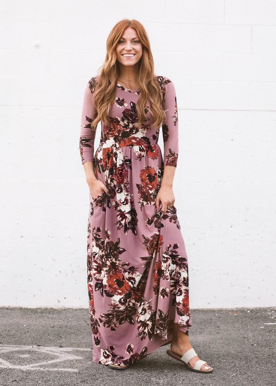Inspirasi Desain Bridesmaid Hijab Dddy Classic Rose Maxi Dress