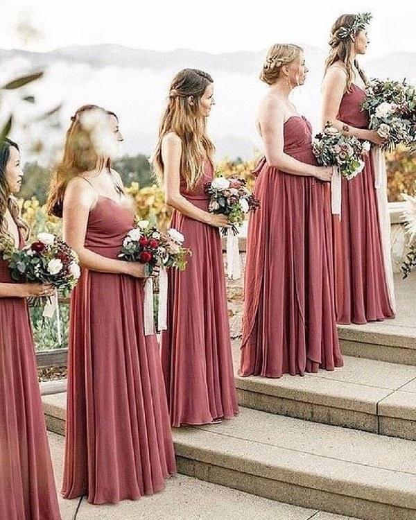 Inspirasi Desain Bridesmaid Hijab E6d5 Cinnamon Rose Long Strapless Bridesmaid Dresses Wedding