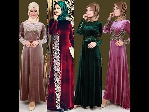 Inspirasi Desain Bridesmaid Hijab Y7du Videos Matching Velvet Gowns Velvet formal Dresses Long