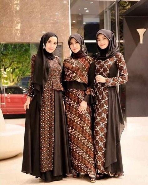 Inspirasi Gamis Untuk Pesta Pernikahan Irdz List Of Gamis Pesta Batik Modern Images and Gamis Pesta