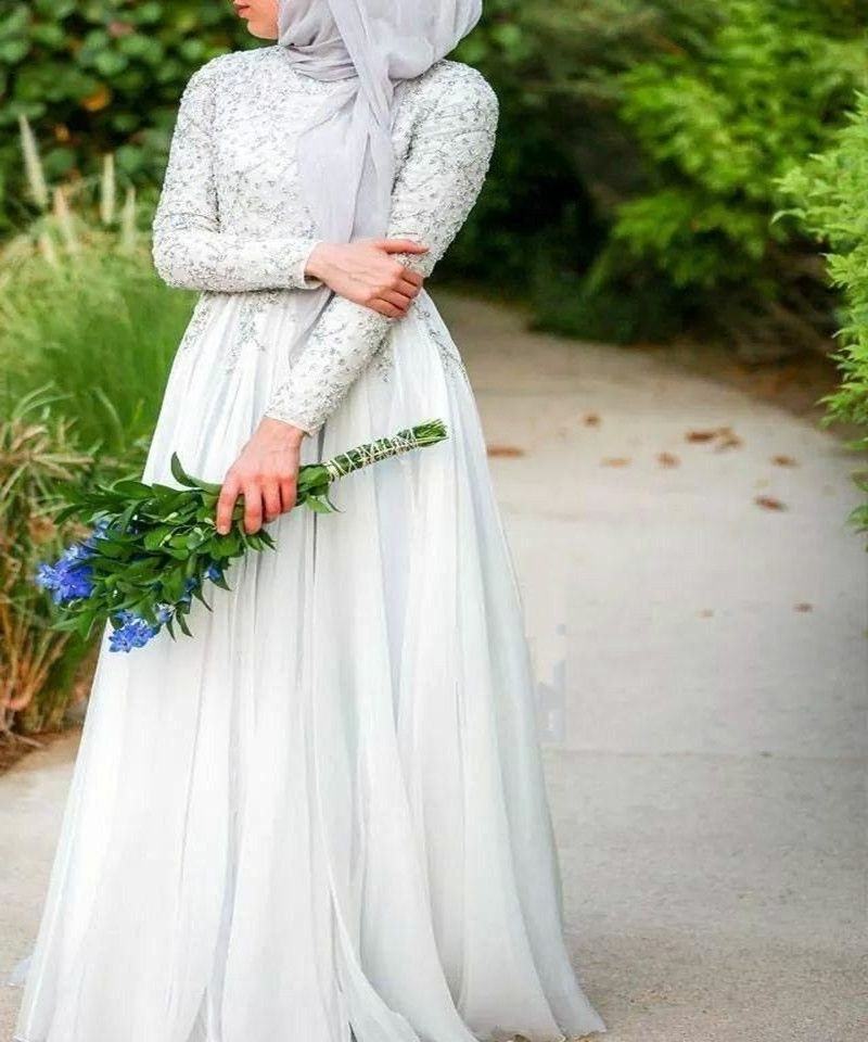 Inspirasi Hijab Bridesmaid Dress E6d5 Arabic Long Wedding Dresses with Hijab Elegant High Collar