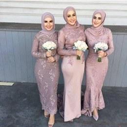 Inspirasi Model Baju Bridesmaid Hijab 2018 Xtd6 wholesale Elegant Muslim Long Sleeve Dresses Buy Cheap