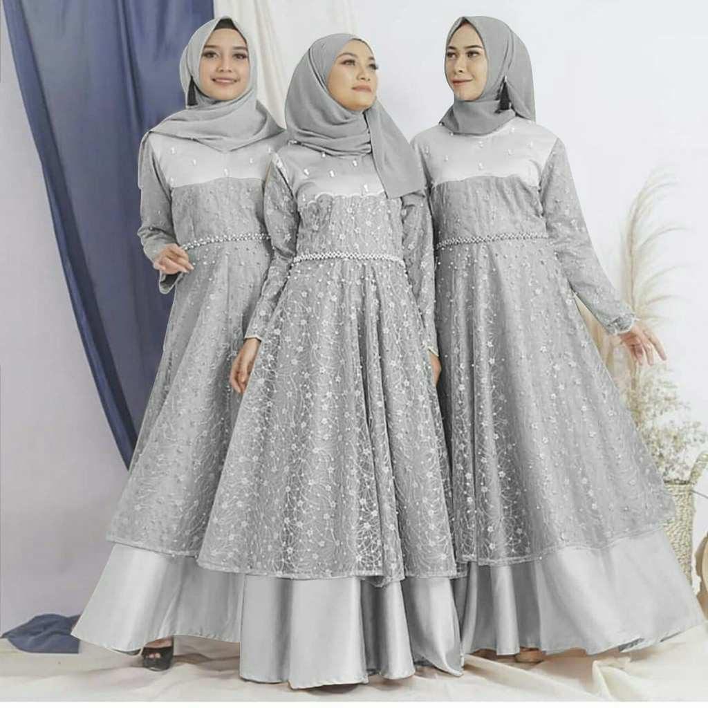 Inspirasi Model Gamis Untuk Acara Pernikahan 3id6 Model Gamis Brokat Pesta Terbaru Rahayu Model Gamis Terbaru