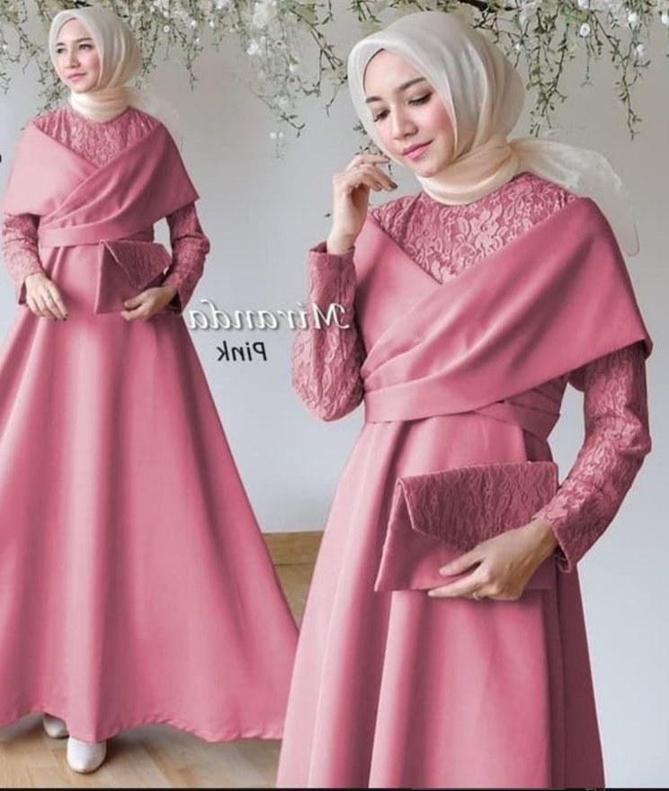 Inspirasi Model Gamis Untuk Acara Pernikahan H9d9 30 Gamis Brokat Di Bawah Rp200 Ribu Yang Stylish Dan Elegan