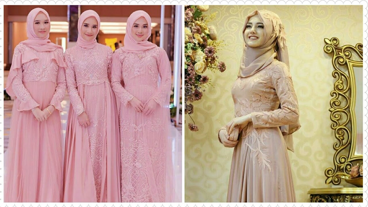 Inspirasi Model Gamis Untuk Acara Pernikahan Wddj Download 16 Model Gamis Pesta Brokat Terbaru Sekarang 2019