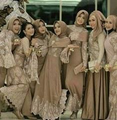 Inspirasi Model Kebaya Bridesmaid Hijab 4pde Pida Hasibuan Fiedhahasibuan On Pinterest