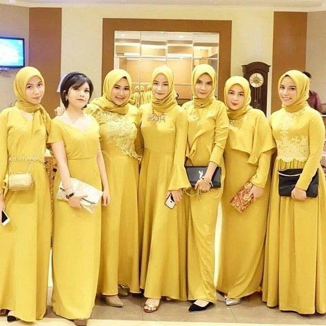 Inspirasi Model Kebaya Bridesmaid Hijab Y7du Bona Tika Bonatika On Pinterest