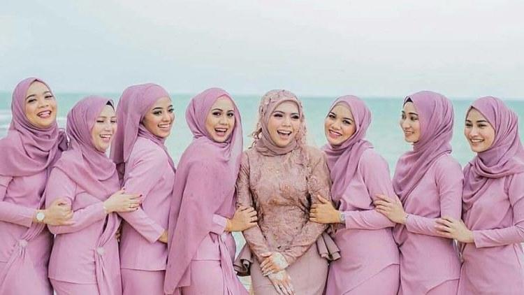 Model Bridesmaid Hijab Ipdd Makeup Bridesmaid Hijab