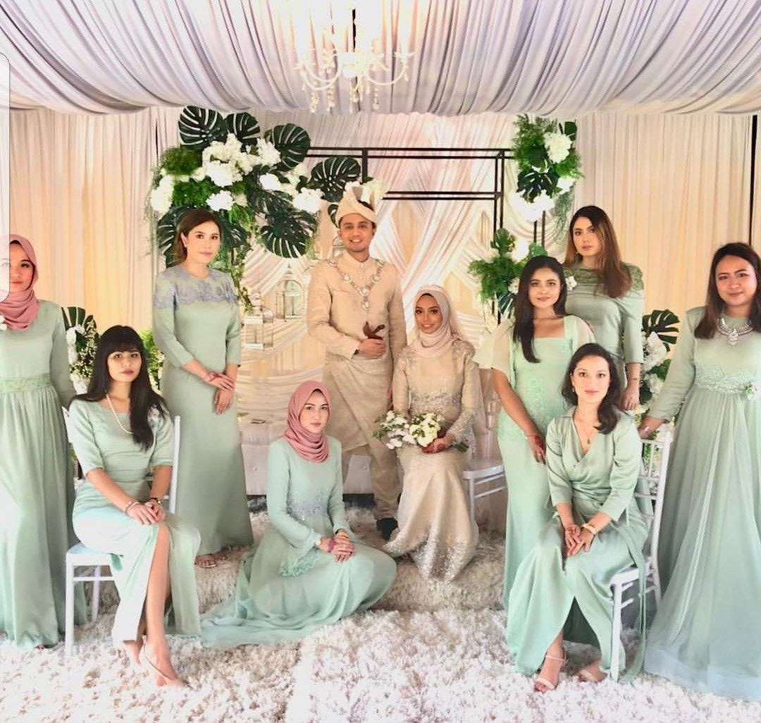Model Design Bridesmaid Hijab Tldn Brides In 2019