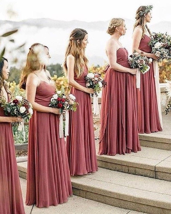 Model Design Bridesmaid Hijab Zwd9 Cinnamon Rose Long Strapless Bridesmaid Dresses Wedding