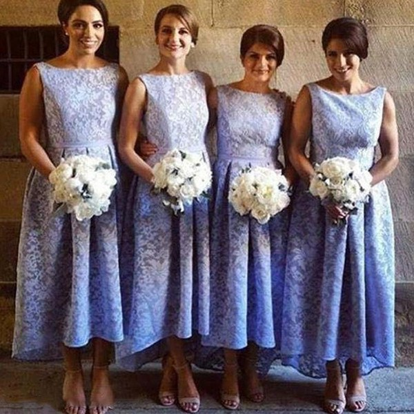 Model Design Bridesmaid Hijab Zwdg Lavender Lace High Low Bridesmaid Dresses Sleeveless Short Front Long Back Vintage Wedding Bridesmaid Gowns Custom Made Design Your Own Bridesmaid