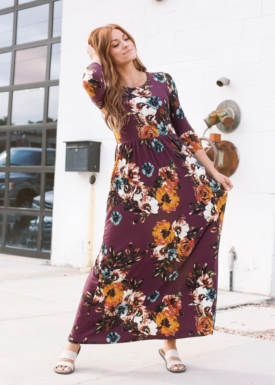 Model Dress Bridesmaid Hijab Zwd9 Classic Rose Maxi Dress