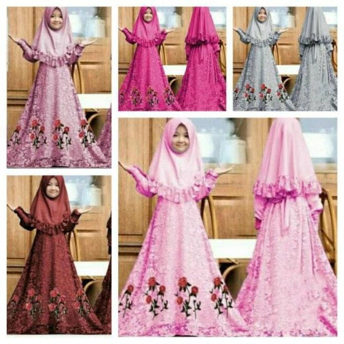 Model Gamis Seragam Pernikahan Ipdd Jual Baju Muslim Syari Gamis Anak Herbie Kids Od Jersey Mix Brukat Fit Dki Jakarta Galleryzulaikha