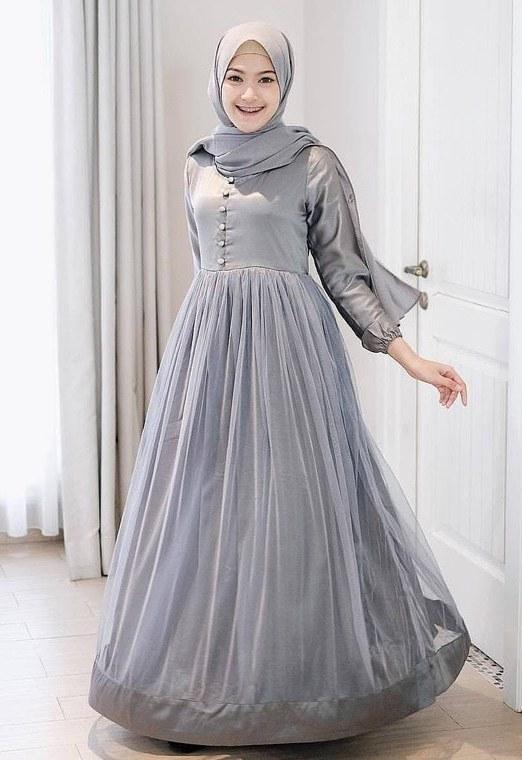 Model Gamis Syari Untuk Pesta Pernikahan Etdg Dress Gaun Baju Tutu Wanita Mewah Pesta Pernikahan Seragam Maxi Gamis