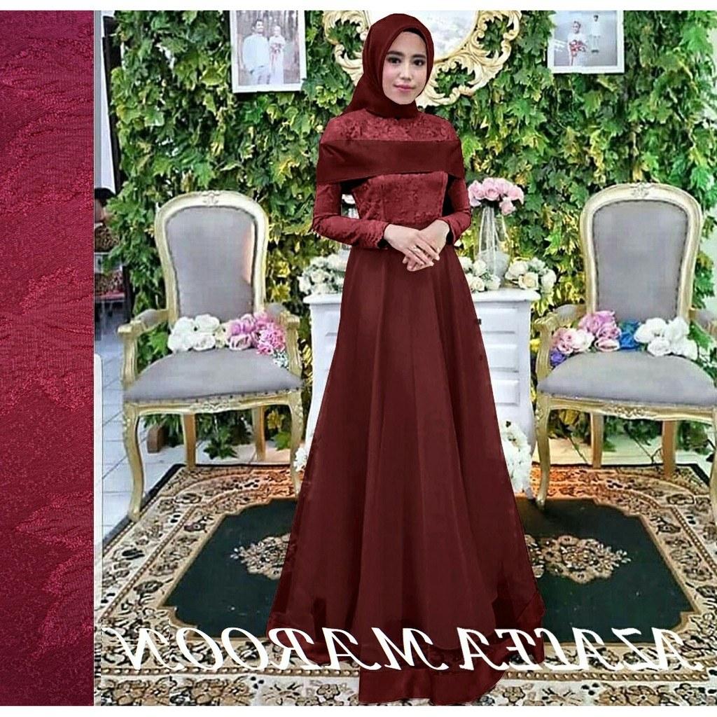 Model Gamis Syari Untuk Pesta Pernikahan Mndw Azalea Baju Wanita Gaun Pesta Dress Maxi Baju Muslim Gamis Syari Fashion Muslim Terbaru