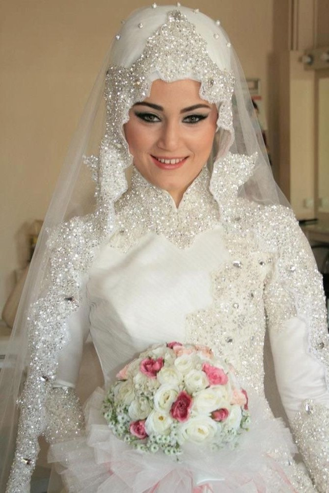 Model Hijab Bridesmaid Dresses E6d5 Hijab Modern Style White Wedding Dress In 2019