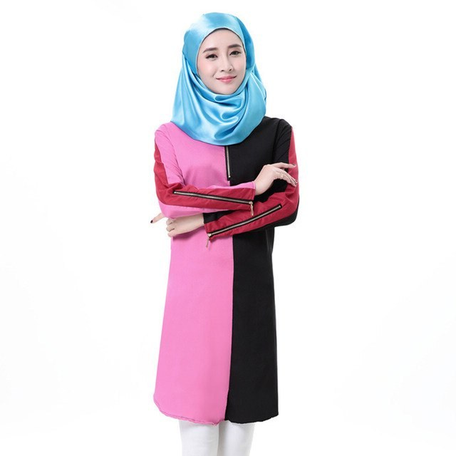 Model Model Baju Bridesmaid Hijab 2019 8ydm Patchwork islamic Clothing for Women Liner Chiffon Traditional Arabic Clothing islamic Abaya New Arrival Muslim Women Clothing In islamic Clothing