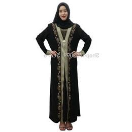 Model Model Baju Bridesmaid Hijab 2019 Qwdq islamic Dress Women Middle East Long Robe Gowns Dubai Abaya Hijab Arab Worship Prayer Garment Kaftan Muslim