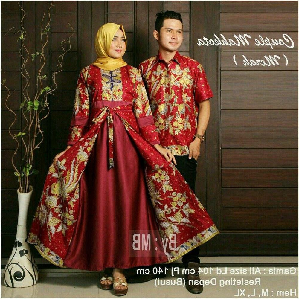 Model Model Gamis Batik Untuk Pesta Pernikahan Gdd0 Sarimbit Batik Pesta Pernikahan Couple Busana Muslim Muslimah
