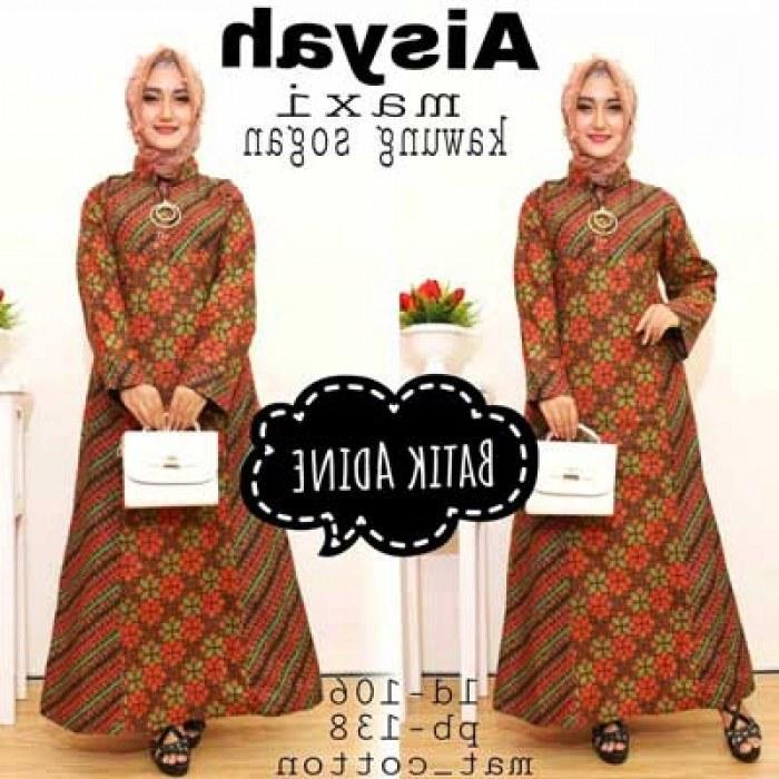 Model Model Gamis Batik Untuk Pesta Pernikahan Jxdu 21 Model Gamis Batik Terbaru Untuk Pesta