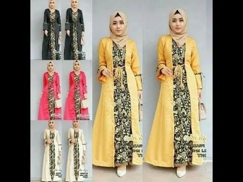 Model Model Gamis Batik Untuk Pesta Pernikahan O2d5 18 Koleksi Model Gamis Batik 2019 Yang Lagi Trend