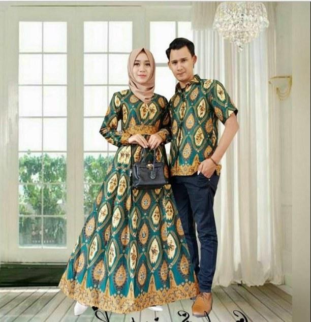 Model Model Gamis Batik Untuk Pesta Pernikahan Qwdq √ 60 Baju Gamis Batik Cantik Desain Kombinasi Modern Trend