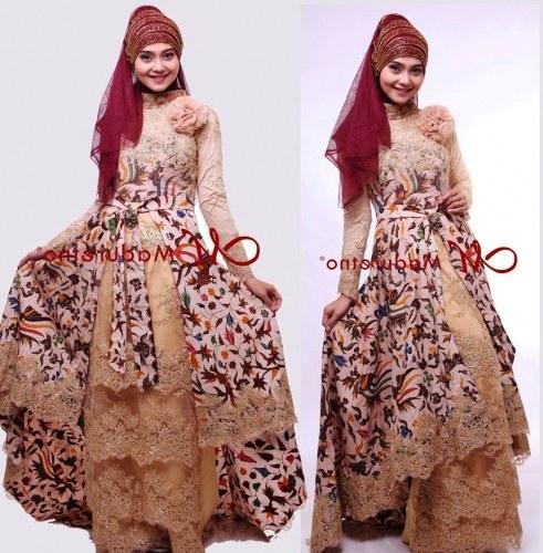 Model Model Gamis Batik Untuk Pesta Pernikahan Rldj 21 Model Gamis Batik Terbaru Untuk Pesta