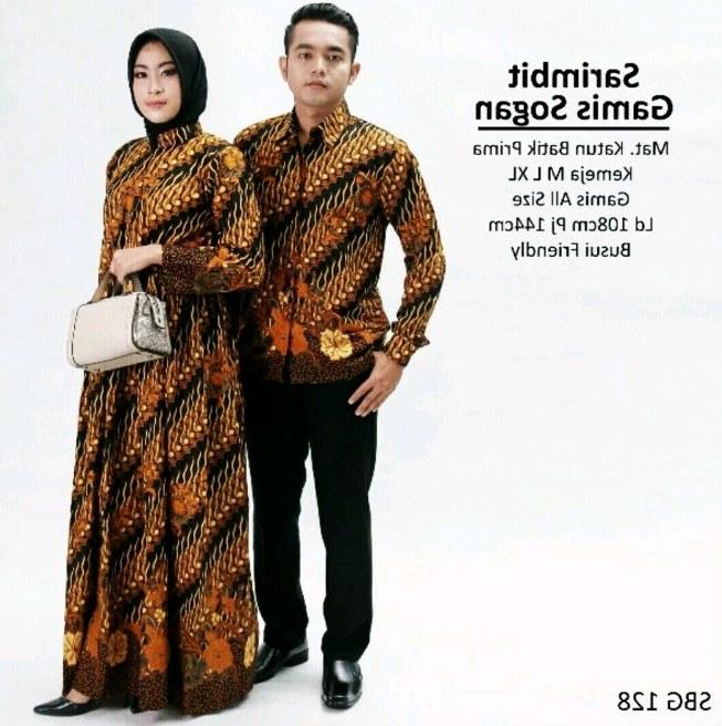 Model Model Gamis Batik Untuk Pesta Pernikahan Tqd3 √ 21 Model Baju Batik Couple Pesta Modern Terbaru 2020
